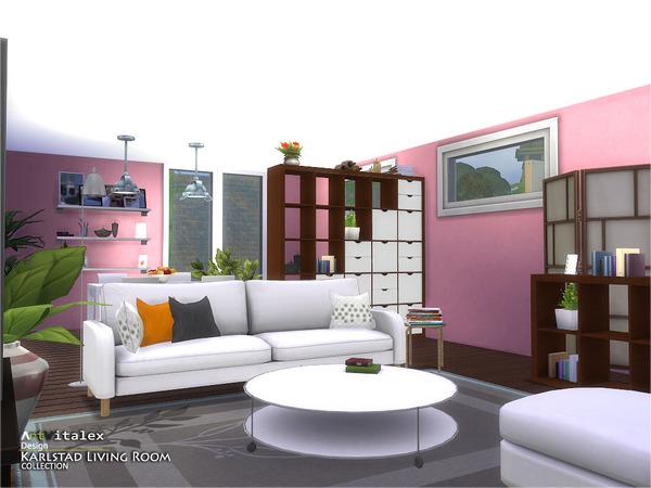 Karlstad Living Room by ArtVitalex at TSR image 7921 Sims 4 Updates