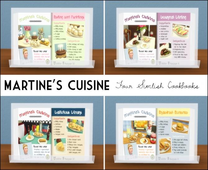 Sims 4 Martine's Cuisine Simlish cookbooks at Martine's Simblr