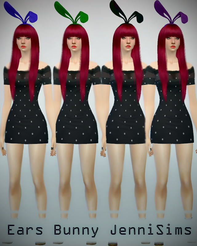 Bunny Ears Hair Acc. at Jenni Sims image 8010 Sims 4 Updates