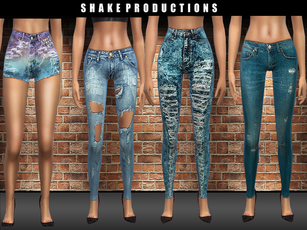 Sims 4 DENIM SET by ShakeProductions at TSR