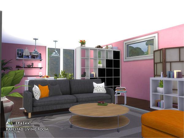 Karlstad Living Room by ArtVitalex at TSR image 8021 Sims 4 Updates