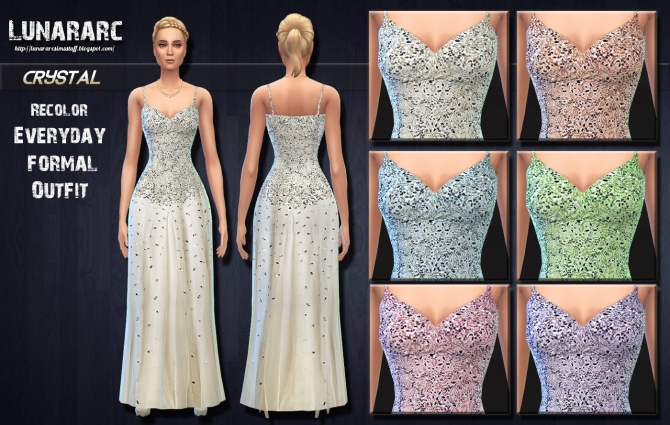 Crystal Beaded Wedding Dress By Lunararc at Lunararc image 804 Sims 4 Updates