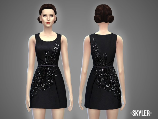 Sims 4 Skyler dress by April at TSR