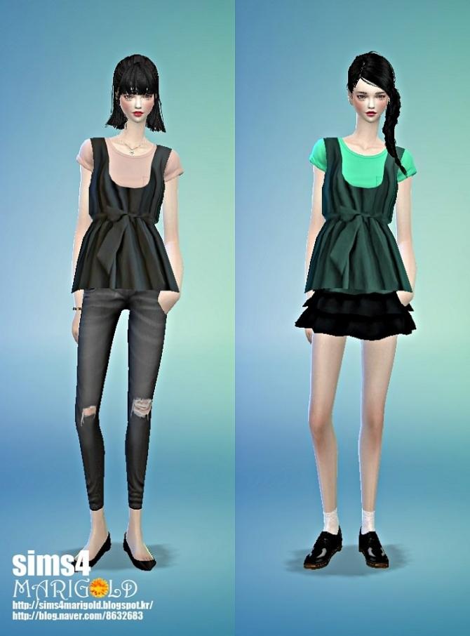 Layered top 2 at Marigold image 8116 Sims 4 Updates