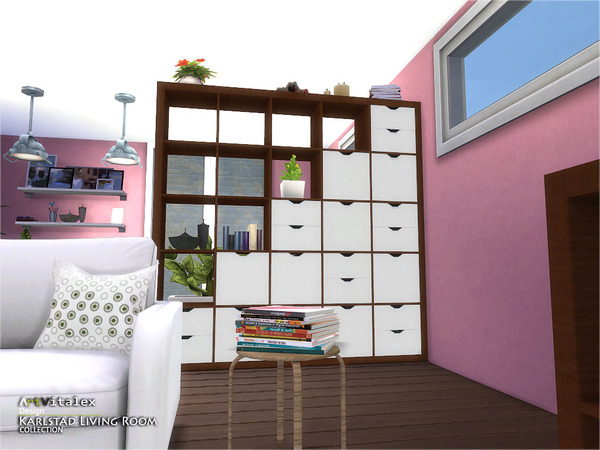 Karlstad Living Room by ArtVitalex at TSR image 8131 Sims 4 Updates