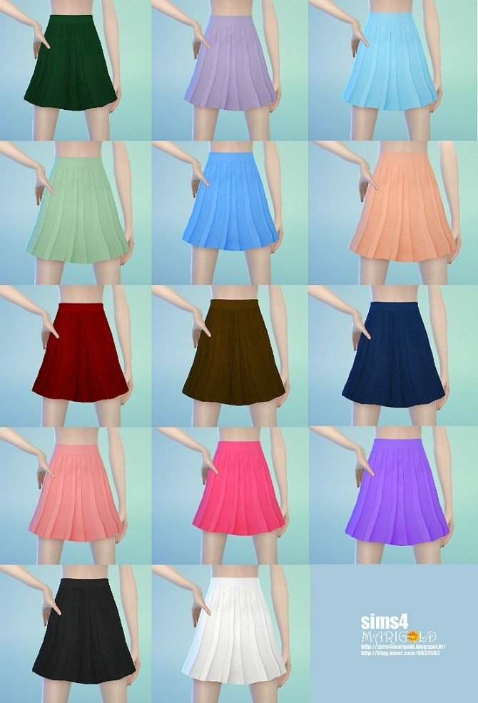 pleated skirt at marigold sims 4 updates