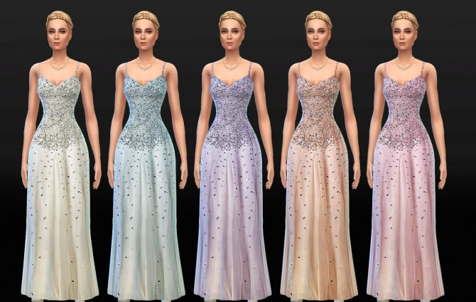 Crystal Beaded Wedding Dress By Lunararc at Lunararc image 815 Sims 4 Updates