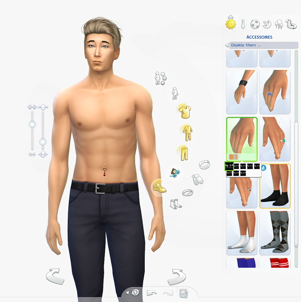 Belly piercing for males by Michaela P. at 19 Sims 4 Blog image 82 Sims 4 Updates