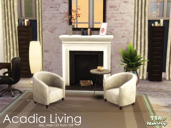 Sims 4 Acadia Living Room by sim man123 at TSR