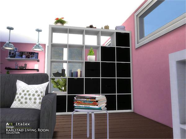 Karlstad Living Room by ArtVitalex at TSR image 8231 Sims 4 Updates