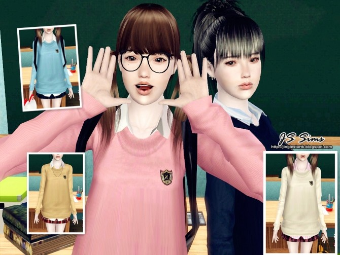 Japanese School Uniform Set At Js Sims 4 187 Sims 4 Updates