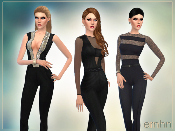 Spring Jumpsuits Set by ernhn at TSR image 8311 Sims 4 Updates