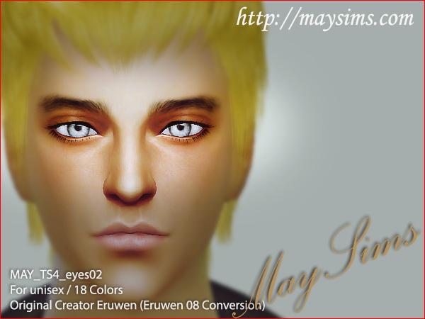 Sims 4 Eyes 02 (Eruwen 08 conversion) at May Sims