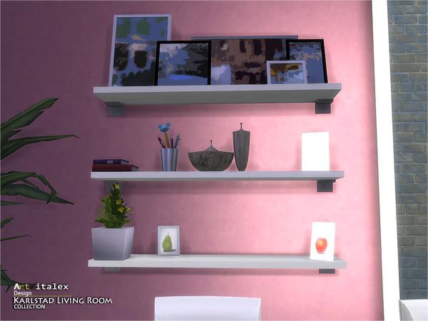 Sims 4 Karlstad Living Room by ArtVitalex at TSR