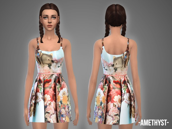 Sims 4 Belle dresses set by April at TSR