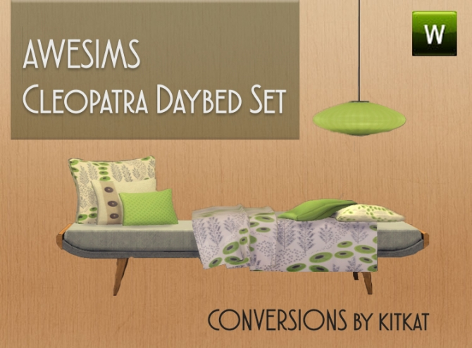 Awesimss Cleopatra Daybed Set Conversions at Kitkat's Simporium image 8410 Sims 4 Updates