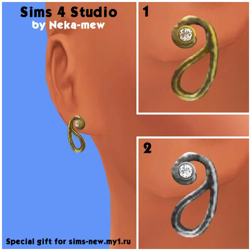 Mysterious bend necklace and earrings at Neka mew image 842 Sims 4 Updates