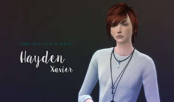 Sims 4 Hayden Xavier at One Billion Pixels