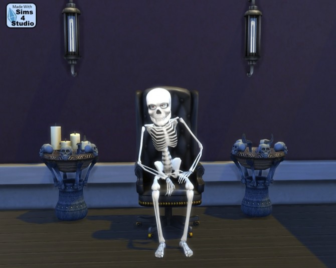 Sims 4 Sims 2 Resurrect o Nomitron as Gothic End Table by Esmeralda at Mod The Sims