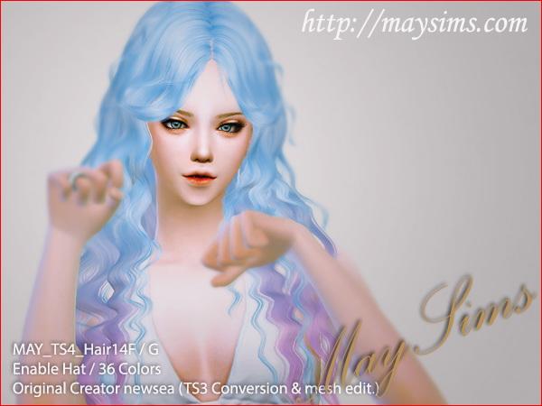 Sims 4 Hair 14G (Newsea) at May Sims