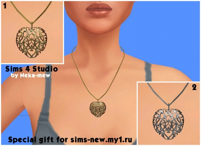 Mysterious bend necklace and earrings at Neka mew image 852 Sims 4 Updates