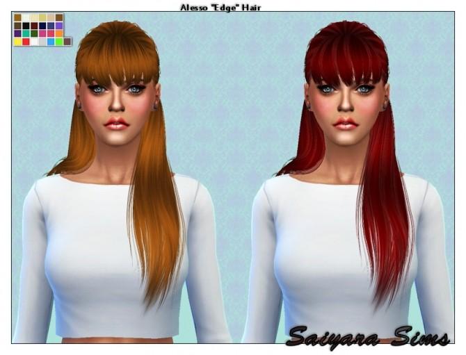 Alesso Edge hair re textured at Saiyara Sims image 8661 670x511 Sims 4 Updates