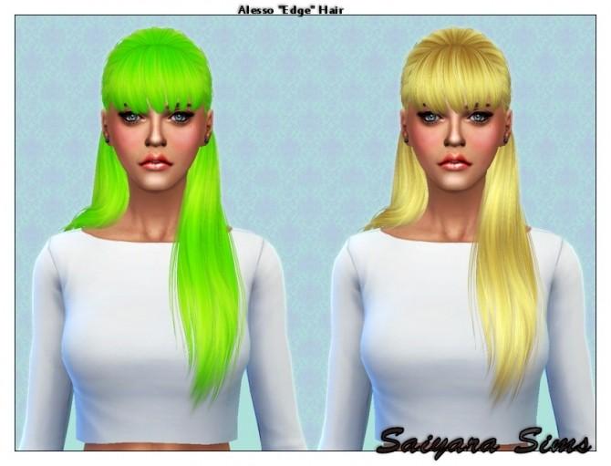Alesso Edge hair re textured at Saiyara Sims image 8761 670x511 Sims 4 Updates