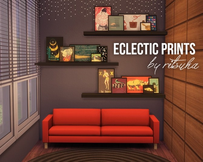 Sims 4 Eclectic prints at Ritsuka