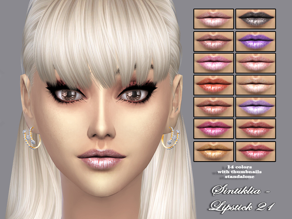 Lipstick 21 by Sintiklia at TSR image 9141 Sims 4 Updates