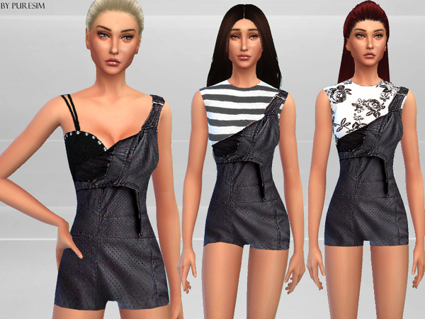 Leather Overalls by Puresim at TSR image 9231 Sims 4 Updates