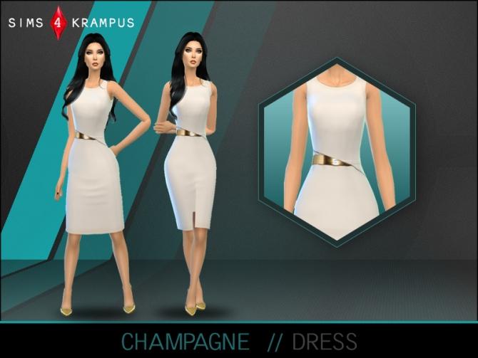 Sims 4 Champagne dress at Sims 4 Krampus