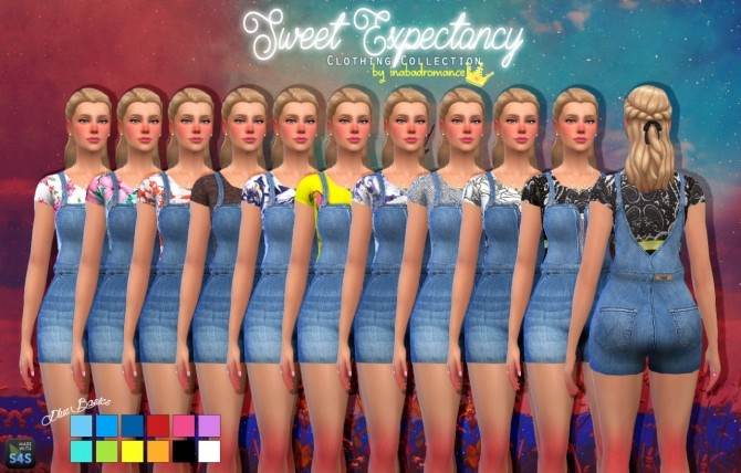 Sims 4 Sweet expectancy outfit at In a bad Romance
