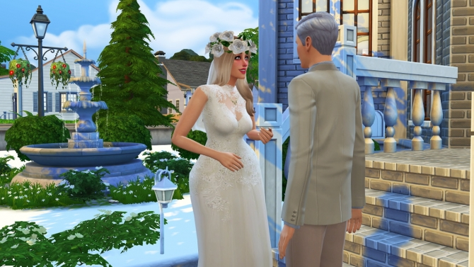 Sims 4 Wedding dress at In a bad Romance