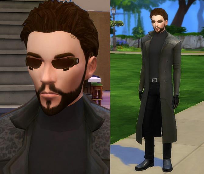 Adam Jensen Deus Ex In Ts4 By Esmeralda At Mod The Sims