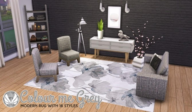 Colour Me Grey Modern Rugs at Simsational Designs image 9713 670x390 Sims 4 Updates