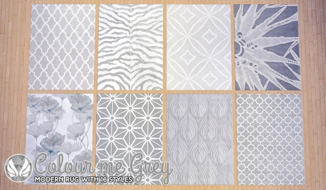 Colour Me Grey Modern Rugs at Simsational Designs image 9813 670x390 Sims 4 Updates