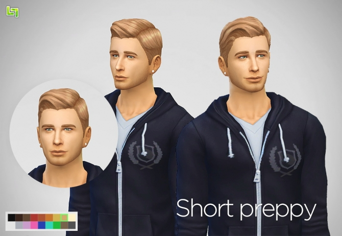 Two mesh edit haircuts for males at LumiaLover Sims image 9910 Sims 4 Updates