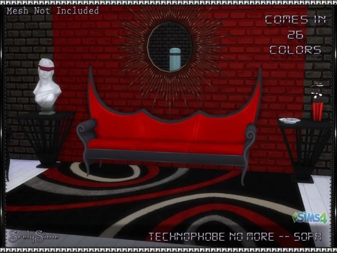 Sims 4 Technophobe No More Sofa recolors at SrslySims