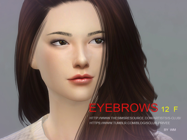 Sims 4 Eyebrows 12 F by S Club WM at TSR