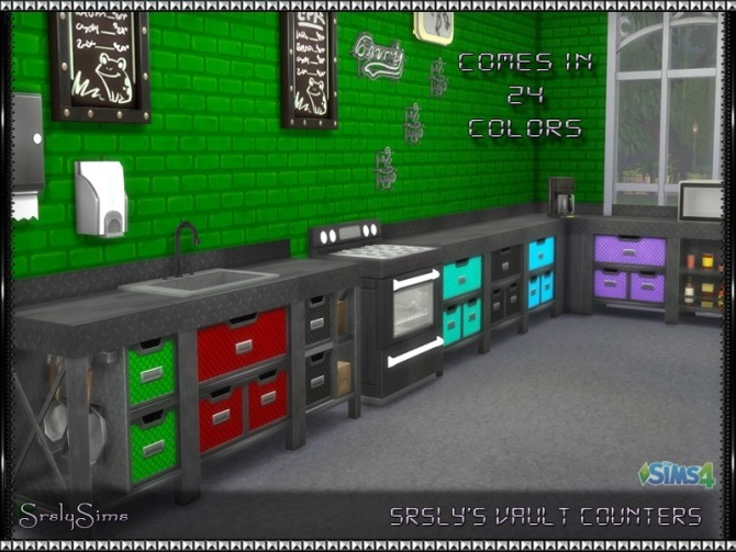 Sims 4 Vault Multicolored Counters at SrslySims