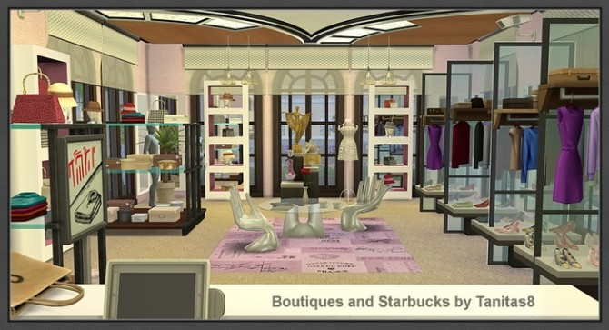 Boutiques and Starbucks at Tanitas8 Sims image 1003 670x363 Sims 4 Updates