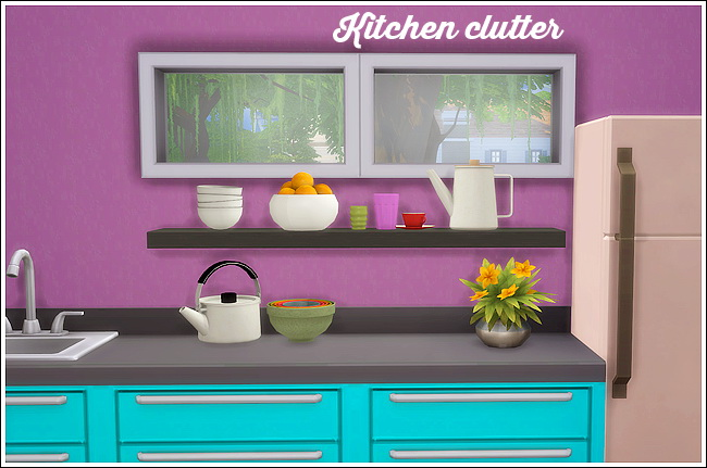 Kitchen clutter 9 Ts3 conversions at Lina Cherie image 1006 Sims 4 Updates