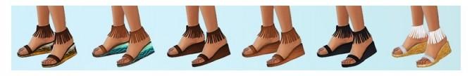 Sims 4 Fringe Sandals at Chisami