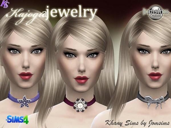 Sims 4 KAJOGUA chokers by Jomsims at Khany Sims