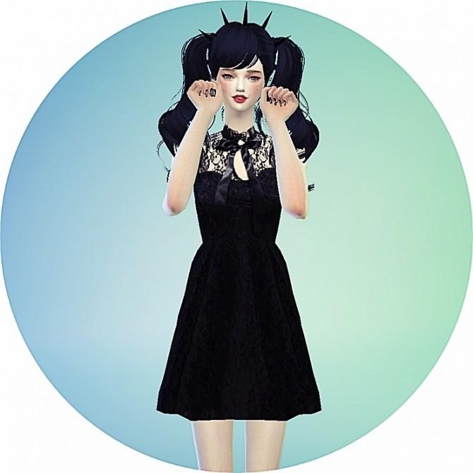 Ribbon lace black dress at Marigold image 1013 670x670 Sims 4 Updates