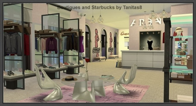 Boutiques And Starbucks At Tanitas8 Sims 187 Sims 4 Updates