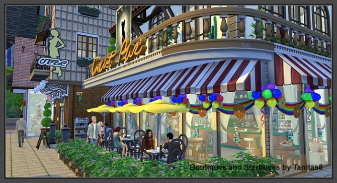 Boutiques and Starbucks at Tanitas8 Sims image 1023 670x363 Sims 4 Updates