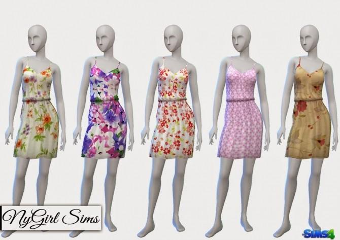 Sims 4 Gathered Spring Dress with Pockets at NyGirl Sims