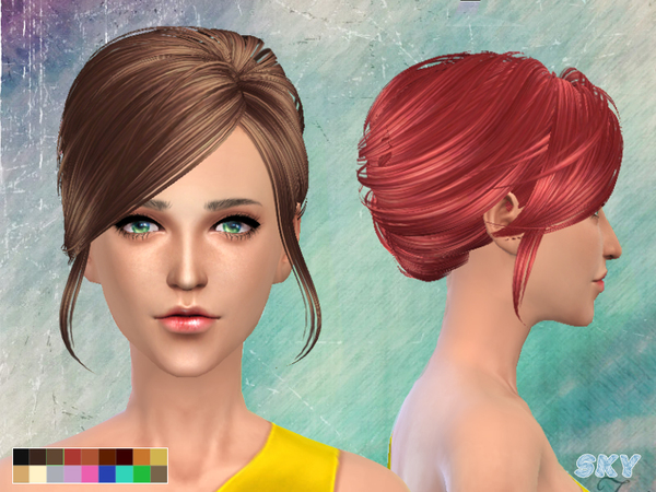 Hairstyles Updates: Hair 148 By Skysims At TSR » Sims 4 Updates
