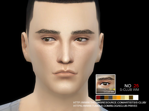 Sims 4 Eyebrows 25 M by S Club WM at TSR